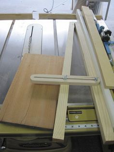 Easy to make Tapering Jig (table saw angle cutting) - by Angela @ LumberJocks.com ~ woodworking community #woodworkingtools