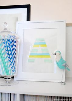 Another use for the DIY Making Tape Stickers I shared last week on Creature Comforts: Monogram Art