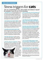 Client handouts: Top 10 stress triggers for dogs and cats