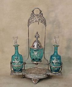 19th-c-Meriden-Victorian-Silverplated-Cologne-Perfume-Castor-Holder-HP-Doves
