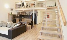 Small flats have their upsides — reduced lease, frequently a closer proximity to bustling downtown regions, and a particular irreplaceable intimate appeal. This is, if you understand how decorate. Small Loft Apartments, Small Apartment Hacks, Cute Apartment, Luxury Apartments, Apartment Design, Studio Apartments, Cabin Loft, Loft House, Small House Design