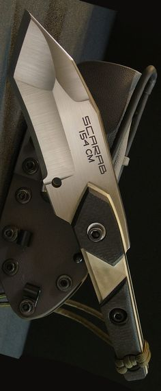 Dwaine Carrillo Custom Knife Blade - Scarab Model 5 @aegisgears