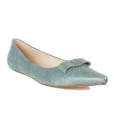Look at this #zulilyfind! Ice Blue Feyi Leather Flat #zulilyfinds