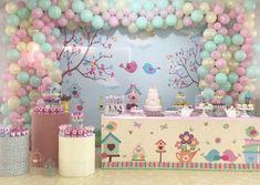 Baby Girl Birthday Theme, Ideas Para Fiestas, Cute Birds, Baby Party, Birthday Decorations, Party Themes, Balloons, Alice, Cake