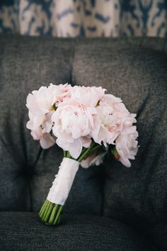 Simple pink peony bouquet {Photo: Bonnie Sen}