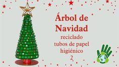 Árbol de Navidad Reciclando Tubos de Papel Higiénico #2