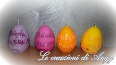 Uova di cera decorate