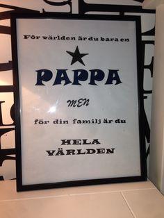 Farsdagspresent till barnens pappa ❤️