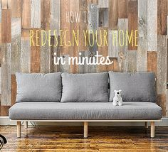 Reinvent your home with these easy to install reclaimed wood planks! Reclaimed Wood Paneling, Wood Planks, Living Rooms, Living Room Decor, Living Spaces, Artis Wall, A Frame House, Old Wood, Wine Cellar