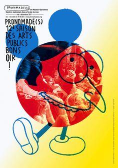 """Fondé en 2007 par Thomas Couderc et Clément Vauchez, le studio Helmo a pris la relève de Ronald Curchod pour la réalisation des illustrations de l'association """"Pronomade(s) en Haute-Garonne"""". Les travaux produits pour la saison 2011 sont désormais visible sur leur site."""