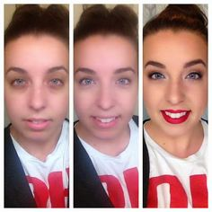 RefreshingLeigh Simple: Holiday Red Lip and Correcting Dark Circles. GREAT tips for correcting dark circles using a peach colored corrector! All Things Beauty, Beauty Make Up, Beauty Secrets, Beauty Hacks, Beauty Skin, Hair Beauty, Corrective Makeup, Concealer For Dark Circles, Health And Beauty Tips