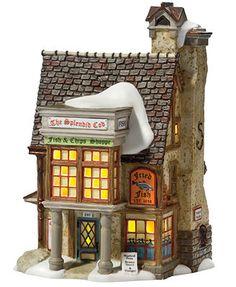 Department 56 Collectible Figurine, Dickens' Village Splendid Cod Fish N Chip - Retired