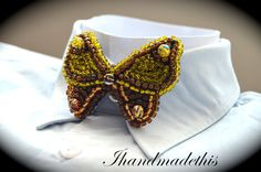 Items similar to Yellow beaded butterfly bow tie, beads embroidery brooch, beadwork butterfly, seed beads, women bow tie on Etsy - Yellow beaded butterfly bow tie beads embroidery by Ihandmadethis Yellow beaded butterfly bow tie b - Handmade Jewelry, Unique Jewelry, Handmade Gifts, Women Bow Tie, Bead Weaving, Beaded Embroidery, Seed Beads, Diamond Jewelry, Beadwork