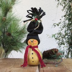 holiday gourds | Christmas Gourd Snowman Winter Frosty Holiday by pinchmeboutique