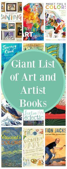Books for Art Appreciation and Artist Study - Lextin Eclectic Art Books For Kids, Art Activities For Kids, Artists For Kids, Great Artists, Childrens Books, Art For Kids, Kid Books, Preschool Art, Homeschool Books