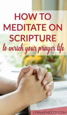 Meditating on scripture is a great way to draw near to the heart of God and enable a more intimate conversation with him.