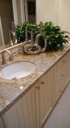 bathroom countertops golden crystal granite