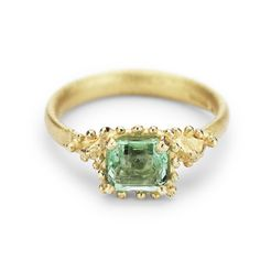 Emerald and yellow gold ring from Ruth Tomlinson