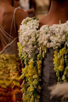 Flowers  embellishment | Project Runway Season 11