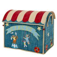 Large Circus Raffia Toy Storage Basket Rice DK