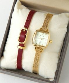 【UR SELECT】2Way Watch Gold Diamond Watches, Stylish Watches, Square Watch, Vintage Watches, Jewelery, Fine Jewelry, 2way, Luxury, Women's Watches