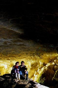 A couple hours south of Auckland lies the small village of Waitomo and one of the biggest tourist attractions in the North Island: the Waitomo Caves. The cave system is awesome in itself, with underground rivers that you can tube or boat on, huge caverns, and rappelling / spelunking opportunities…but the real draw is the creatures down there waiting for you. Check out the other amazing places in New Zealand.