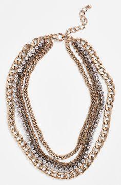 Natasha Couture Multi Chain Necklace