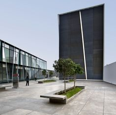 Healthcare in mixed use space: includes medical facilities, chapel, retail and more at the MAPFRE Complex in Peru by architect TSM Asociados
