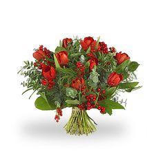 Kerst rode tulpen  Bestel dit boeket via http://www.greenhouseonline.nl/nl/topbloemen-shop