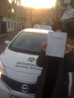 Well done to Maria Tajpoor from #Battersea who passed her test in #Morden.