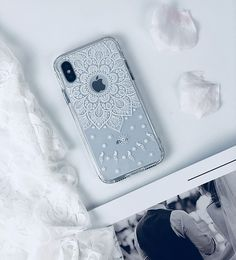 Iphone x case, iphone x slim case, mosnovo white peace mandala floral lace clear Girl Phone Cases, Iphone Cases For Girls, Iphone Cases Disney, Iphone Cases Cute, Cute Cases, Best Iphone, Apple Iphone, Coque Iphone, Health Motivation