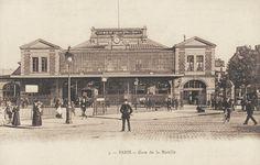 Les gares du Paris d'antan La gare de la Bastille vers 1900.