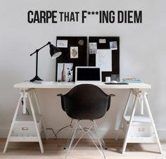 "Adesivo de Texto ""Carpe F* Diem"", by I-Stick"