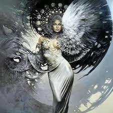 Resultado de imagen de angeles con alas doradas