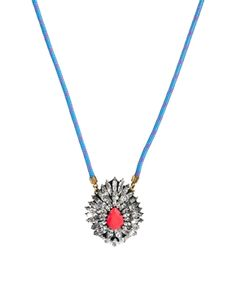 Shourouk Leitmotiv Yildiz Neon Pink Necklace