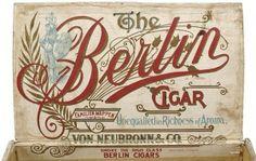 ornate typography. 5 Cigar Box Labels oncenewvintage.com
