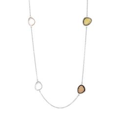 Halskette Gem Drops 2 Silber  Mix - Art.-Nr.: HK3112-MIX  #Leafschmuck #Leafjewelry #jewelry #rose #rosé #gold #fashion #style #stylish #cute #beautiful #beauty #jewelry #jewels #jewel  #fashion #gems #gem #gemstone #bling #stones #stone #trendy #accessories #love #crystals #ootd #fashionista #accessories #fashionjewelry #look #outfit #necklace