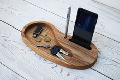 Berest Wood Desk Organizer, Personalized Office & Home Organizer, Dock Station, Entryway Desktop Storage Accessories, Unique Gift for ALL Cool Woodworking Projects, Diy Woodworking, Wood Projects, Woodworking Videos, Woodworking Furniture, Diy Wood Desk, Diy Desk, Desktop Storage, Entry Way Design