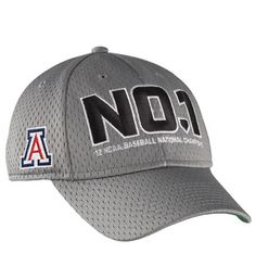 fd0fe1c8d45 Nike Arizona Wildcats 2012 NCAA Men s College World Series Champions Locker  Room Swoosh Legacy 91 Flex Hat - Gray