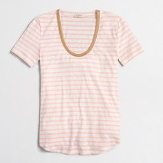 J.Crew+Factory+-+Factory+striped+necklace+T-shirt