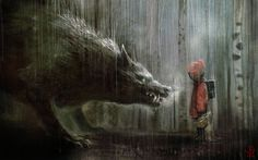 red riding hood, by manuhell.