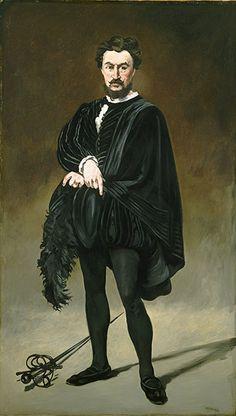 Manet: The Tragic Actor (Rouvière as Hamlet), 1865