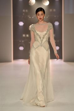 Emma Art Deco Long Sleeved Wedding Dress The Modern Muse – A Sophisticated and Magical Bridal Collection from Gwendolynne