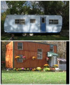 ★★★Check out this tiny home for $5000. The camper was bought for 200 dollars and then stripped down to the trailer and once that was done the entire tiny house was built on it.