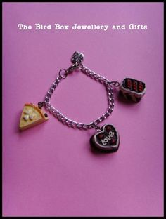 Yummy cake bracelet.  Part of the Hello Kitty jewellery box that was made for  special little girls birthday xx