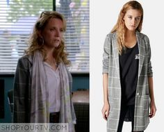 Switched at Birth: Season 4 Episode 13 Kathryn's Grey Grid Coat