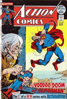 Action Comics F+ DC comics 1972 Superman Dc Comics, Action Comics 1, Dc Comic Books, Comic Book Covers, Dc World, Superhero Series, Superman Comic, Batman, Superman Family