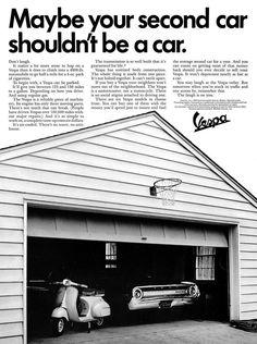 Publicité Vespa Garage Vintage