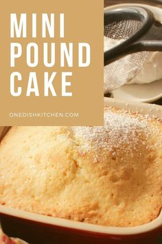"""A classic pound cake recipe transformed into a """"quarter"""" pound cake! Baked in a small baking dish, this buttery, tender and golden mini cake recipe yields the perfect amount for one or two people. Mug Recipes, Pound Cake Recipes, Classic Pound Cake Recipe, Slushie Recipe, Light Cakes, Single Serving Recipes, Small Baking Dish, Summer Dessert Recipes, Cooking For One"""