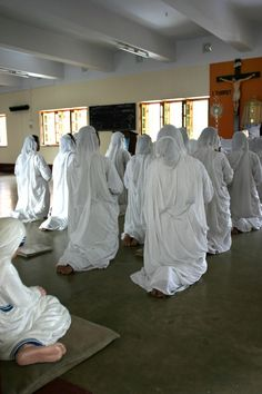 Photo Of The Day: Missionaries of Charity. Mother Teresa's House, Kolkata, India.  www.thecatholicmuse.com